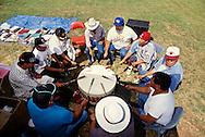 Native American drummers at Cheyenne Arapaho powwow, Oklahama