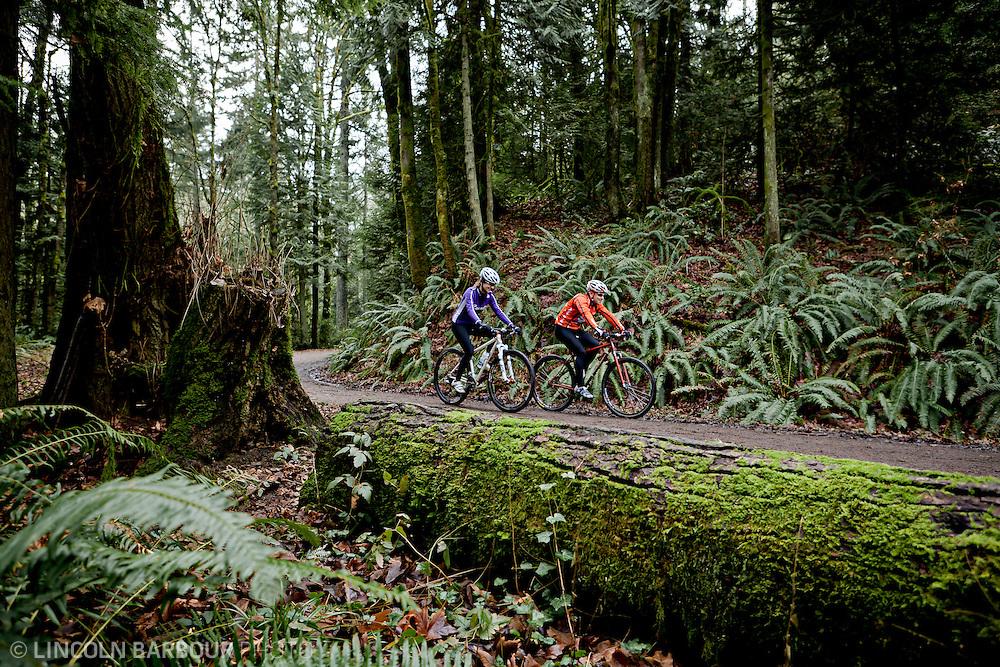 Mountain Biking through Forest Park's fire roads