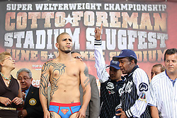 June 4, 2010; Bronx, NY; USA;  Miguel Cotto vs Yuri Foreman weighin at the Great Hall in Yankee Stadium.