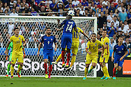 SAINT-DENIS, FRANCE, 10.06.2016 - FRANCE-ROMANIA - Blaise Matuidi from France, dispute the ball to Nicolae Stanciu Romania, in a match valid for the 1st round of Group A of Euro 2016 in the Stade de France in Saint-Denis , on Friday (10)