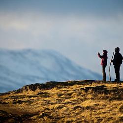 Walkers on the Dumyat, Ochil Hills 22/1/2012
