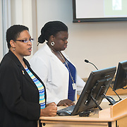 Tiffany Delaney, left, Margaret Tandoh, M.D., associate dean for diversity and inclusion.