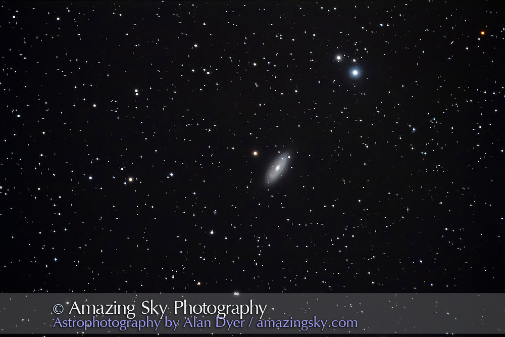 NGC 2841, a fine NGC galaxy in Ursa Major, taken May 6, 2013 from home, with the 130mm Astro-Physics apo refractor at f/6 and Canon 60Da at ISO 800 for a stack of 4 x 10 minute exposures.