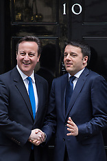 APR 01 2014 PM David Cameron meet with the Prime Minister of Italy
