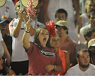 Oxford High vs. Lafayette High students cheer in the annual Crosstown Classic football game, at William L. Buford Stadium at LHS, in Oxford, Miss. on Friday, September 13, 2013. Oxford High won 30-0.