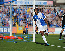 Bristol Rover's Jermaine Easter celebrates his goal to make it 1-1 - Mandatory byline: Alex James/JMP - 07966 386802 - 26/09/2015 - FOOTBALL - Memorial Stadium - Bristol, England - Bristol Rovers v Portsmouth - Sky Bet League Two