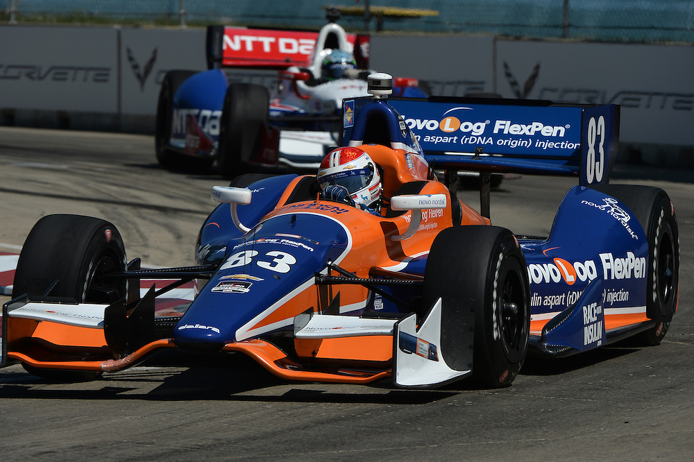 Charlie Kimball, The Raceway at Belle Isle Park, Detroit, MI USA 6/1/2014