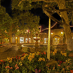 Tlaquepaque in Sedona, AZ on a beautiful Summer night.