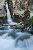 A long flowing falls near El Chalten, Argentina
