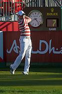 19.01.2013 Abu Dhabi, United Arab Emirates.  Simon Dyson in action during the European Tour HSBC Golf championship  third round from the Abu Dhabi Golf Club.