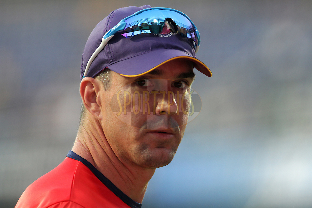 Rising Pune Supergiants player Kevin Pietersen before the start of the match 1 of the Vivo Indian Premier League ( IPL ) 2016 between the Mumbai Indians and the Rising Pune Supergiants held at the Wankhede Stadium in Mumbai on the 9th April 2016<br /> <br /> Photo by Vipin Pawar/ IPL/ SPORTZPICS