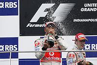 Lewis Hamilton, wins the 2007 USGP, Indianapolis, IN USA