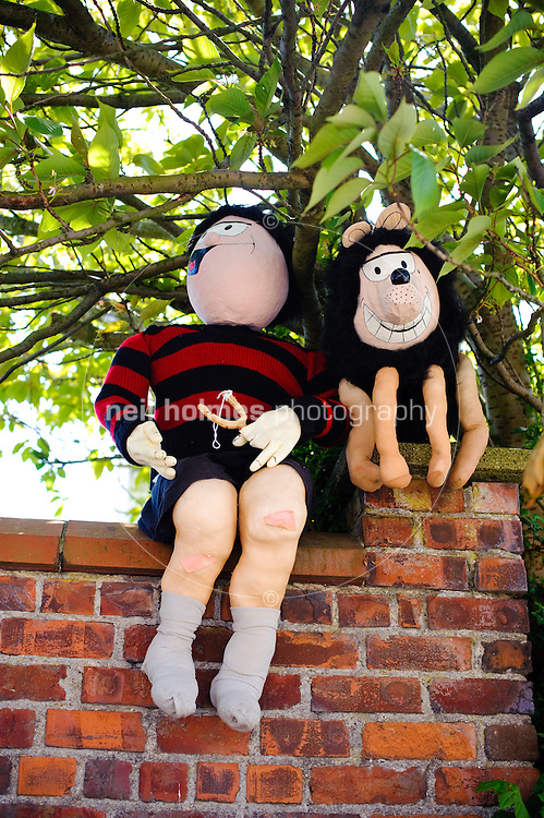 Dennis the menace and knasher, Wetwang Scarecrow Festival 2009