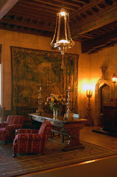 Casa Grande rooms, Hearst Castle State Park, San Simeon, California, United States of America