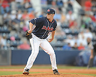 Mississippi's Matt Tracy vs. Auburn college baseball in Oxford, Miss. on Friday, May 21, 2010. (AP Photo/Oxford Eagle, Bruce Newman)