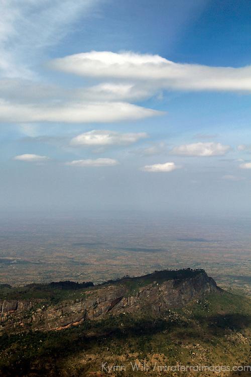 Africa, Kenya. Rugged Kenya landscape from the air.