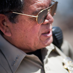 Sheriff Roberto Gutierrez has temporarily taken over security in Columbus, New Mexico. The sheriff's department has temporarily taken control of the safety of the town. Recently federal authorities arrested the mayor, police chief, and trustees who were allegedly operating an illegal gun running ring.