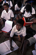 In the classroom at Marara Primary School West Guadalcanal