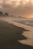 Early hours at Leblon beach. Rio de Janeiro, Brazil.