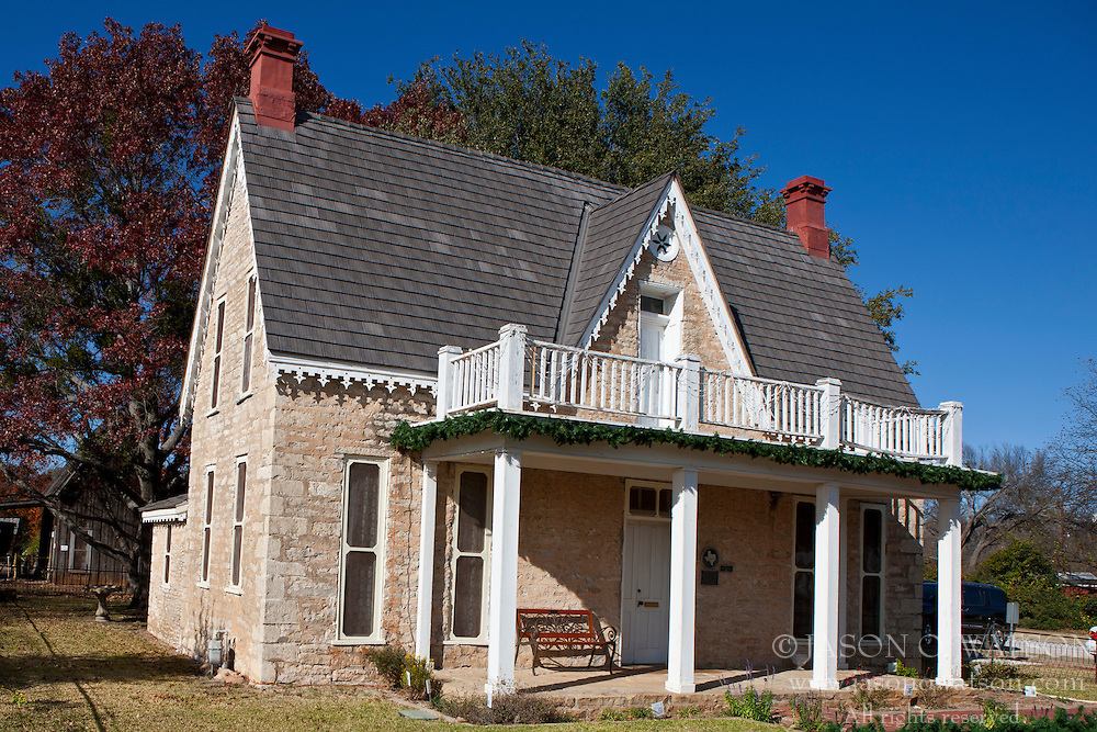 Exterior of the J.D Berry House, the oldest house in Stephenville, Texas, United States of America