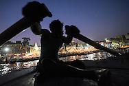 India, Varanassi, Boat man, Ganges river