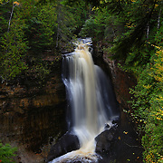&quot;Miner's Falls in October&quot;<br /> <br /> Beautiful Miner's Falls located in Pictured Rocks National Lake Shore. One of many waterfalls near Munising Michigan in the Upper Peninsula!!<br /> <br /> Waterfalls by Rachel Cohen