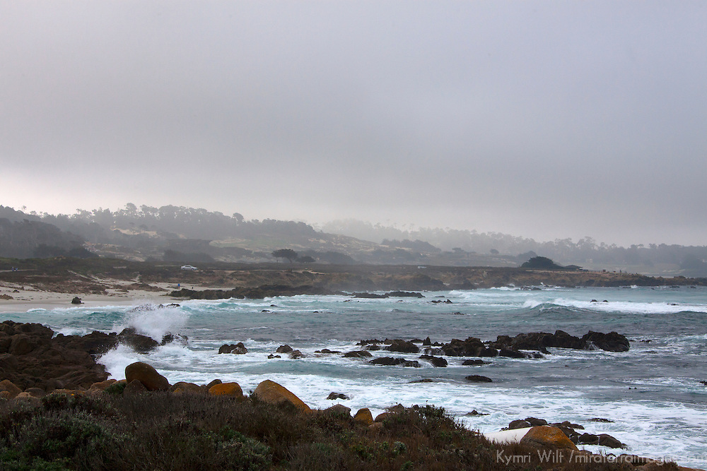 USA, California, Monterey. The Restless Sea coastline of 17-Mile Drive, Monterey.