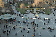 view over Union Square, Manhattan, New York, New York, USA