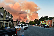 The Wragg Fire rekindled near Vacaville, CA Tuesday July 28, 2015. The fire, which was mostly contained, grew a few hundred more acres after spots inside the fire re-ignited and threatened to breach contingency lines.