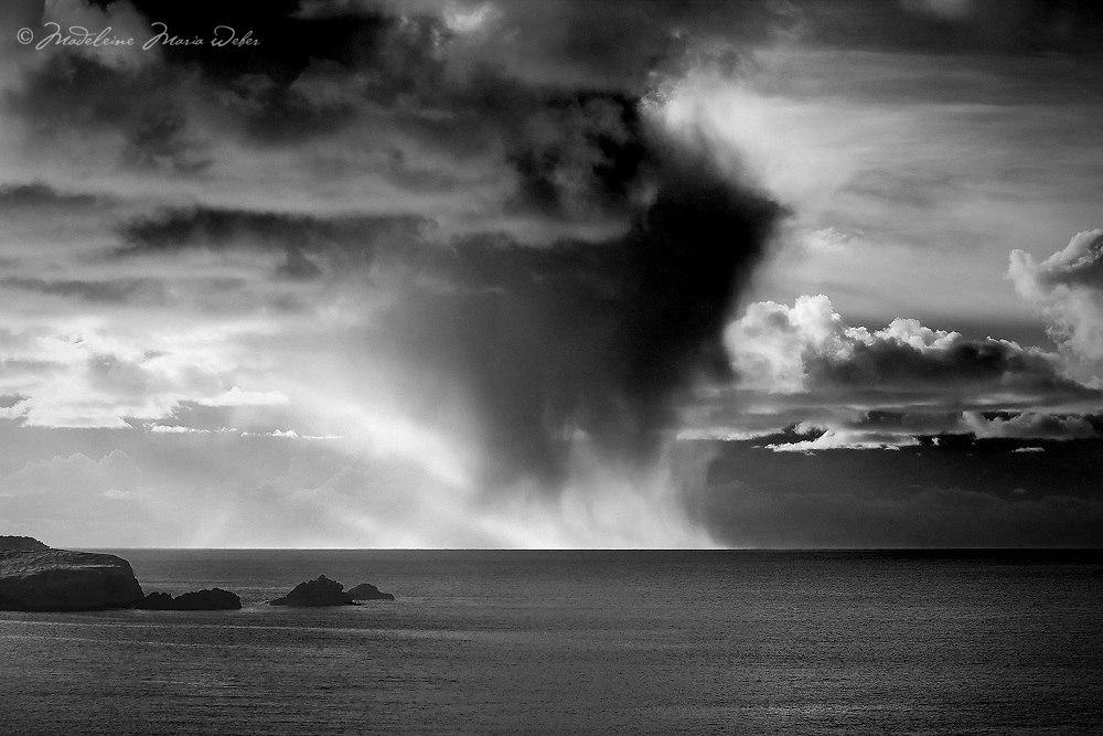 Irish Weather with Rain shower over Atlantic, Ring of Kerry, Ireland / wt035