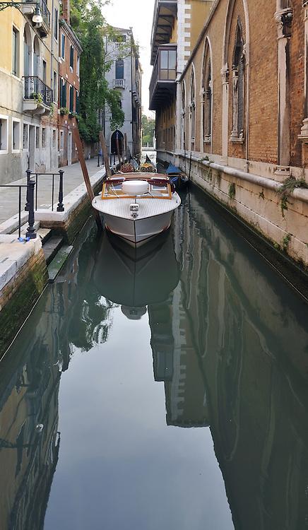 Narrow canal of Venice