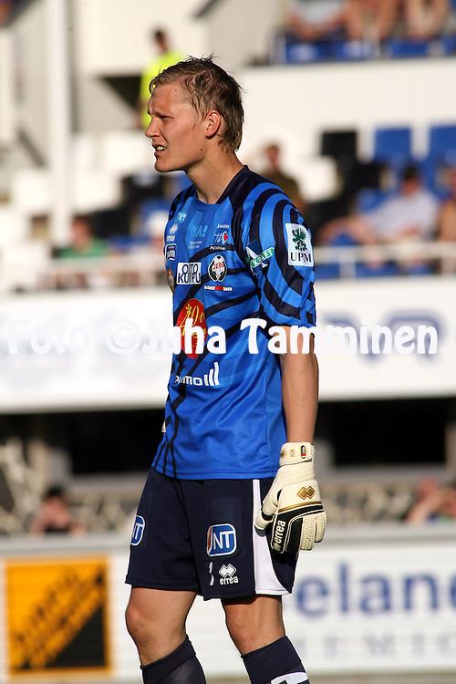 28.06.2009, Tehtaankentt?, Valkeakoski, Finland..Veikkausliiga 2009 - Finnish League 2009.FC Haka Valkeakoski - FF Jaro.Markus Koljander - Jaro.©Juha Tamminen.