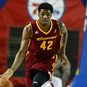 Canton Charge Guard Carrick Felix (42) dribbles the ball up court in the second half of a NBA D-league regular season basketball game between the Delaware 87ers (76ers) and The Canton Charge (Cleveland Cavaliers) Friday, Jan 24, 2014 at The Bob Carpenter Sports Convocation Center, Newark, DEL.