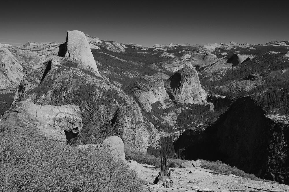 Half Dome And Little Yosemite Valley - Washburn Point - Yosemite - Black & White