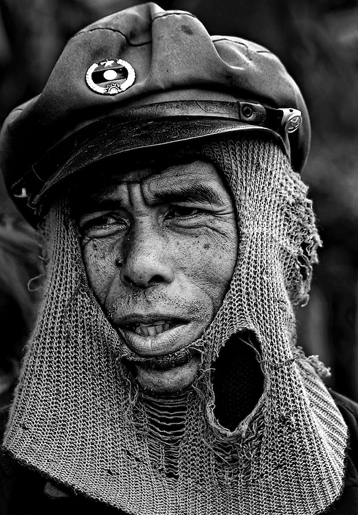 A man from the coffee growing district on the Bolaven Plateau, Laos.