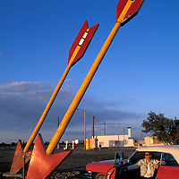 1962 Cadillac Convertible, Old Twin Arrows Gas Station, Route 66, Arizona, USA