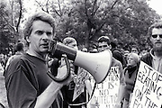 "The Ontario Coalition Against Poverty on June 15, 2000, called for a protest called ""Fight to Win"" against  policies of the Ontario Government headed by Premier Mike Harris. About 1000 protesters arrived at Queen's Park after which a dlegation asked to be admitted to the parliament in order to speak to repreentatives. Denied and then a short time later a molotov cocktail was thrown, by whom I do not know, and a full fledged riot ensued with many arrests and injuries."