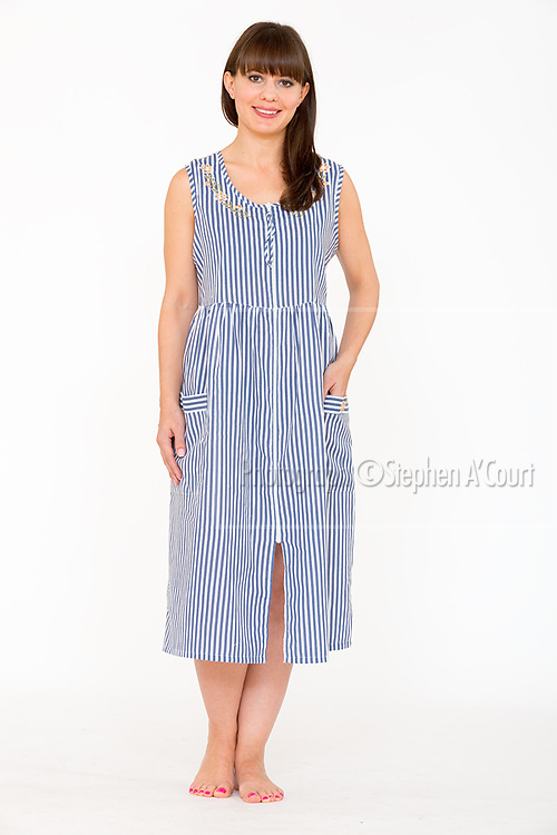 Zip-Front Shift Navy Stripe.  Photo credit: Stephen A'Court.  COPYRIGHT ©Stephen A'Court