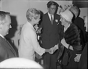 15/06/1961<br /> 06/15/1961<br /> 15 June 1961<br /> Royal Visit to Ireland by Princess Grace and Prince Rainier of Monaco. The royal couple at Westport, Co. Mayo.Princess Grace meets her relatives.