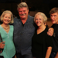 Left to right Carter Tarrer, Jay Tarrer, Betsy Blake, and Jim Blake pose for a photo Friday July 25, 2014 during the Blues Cruise After Party at The Rusty Nail in Wilmington, N.C. (Jason A. Frizzelle)