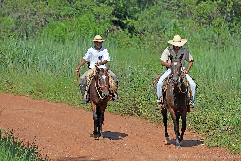 South America, Brazil, Pantanal. Cowboys of the Pantanal, or Pantaneiros, at Caiman Ecological Reserve.