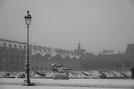 France. Paris. 1st district.  Tuileries garden under the snow  /Jardin des Tuileries sous la neige