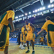 02/01/12 Newark DE: George Mason Senior Forward Mike Morrison #22 is introduced to the crowed prior to the start of a Colonial Athletic Association conference Basketball Game against Delaware Wed, Feb. 1, 2012 at the Bob Carpenter Center in Newark Delaware.