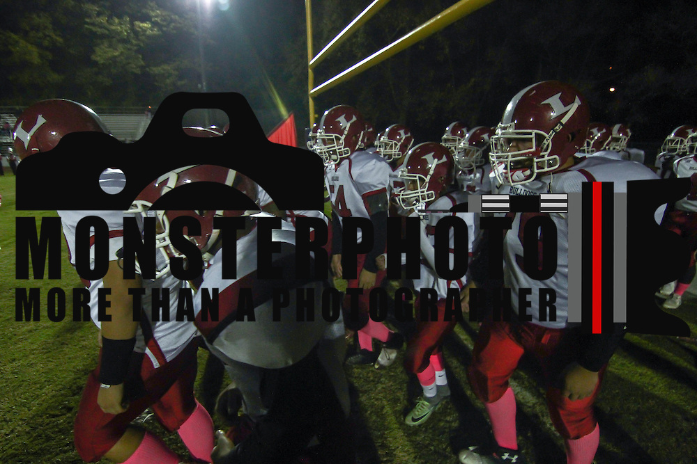 Laurel bulldogs take the field prior to a Week 8 DIAA football game between Laurel and Delaware Military Academy Saturday, Oct. 29, 2016, at Baynard Stadium in Wilmington.