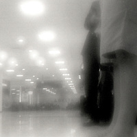 PL12002-00...WASHINGTON - Pinhole image of waiting for my flight at Seatac Airport.