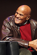 """October 20, 2012-New York, NY: Actor/Social Activist Harry Belafonte at From Beat Street to These Streets: Hip Hop Then and Now panel discussion and special screening of """" Beat Street"""" co-hosted by the Schomburg Center, the Tribeca Youth Screening Series & Belafonte Enterprises and held at The Schomburg Center on October 20, 2012 in Harlem, New York City  (Terrence Jennings)"""