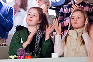 12-3-2017 - DEN BOSCH - King Willem-Alexander en and princess Amalia Alexia and Ariane at Indoor Brabant horse game  jumping  koning willem alexander en prinses ariane en prinses Alexia tijdens indoor brabant  Copyright Robin Utrecht