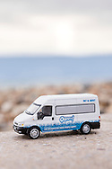EMBARGOED 00:01 Wednesday 22nd February; 2017.<br /> <br /> A miniature Oomph! minibus on the seafront in Southsea, Hampshire. 100,000s of old and vulnerable people will enjoy new Out and About excursions after Oomph! announces nationwide expansion plans today (Wednesday 22nd February).<br /> Out and About tackles a lack of outings for people in care settings due to social care funding cuts. Innovative model offers economies of scale on excursion planning, transport and conductors across care settings in an area.<br /> 80 Out and About minibuses will hit the road in first year thanks to &pound;1.5million investment from Mike Parsons, Care and Wellbeing Fund and Nesta Impact Investments.<br /> Photograph by Christopher Ison &copy;<br /> 07544044177<br /> chris@christopherison.com<br /> www.christopherison.com
