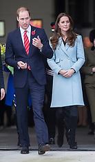 NOV 08 2014 Duke and Duchess of Cambridge visit Wales