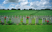 Joncourt East British Cemetery,France..A cemetery from the final 100 days of the First World War. August to November 1918.